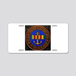 Blue Water Navy Aluminum License Plate