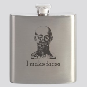 I Make Faces Flask