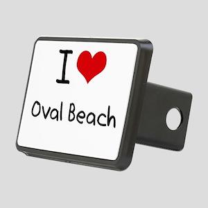 I Love OVAL BEACH Hitch Cover