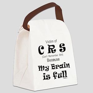 My Brain is Full Canvas Lunch Bag
