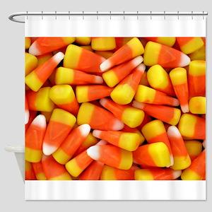Candy Corn Halloween Shirt Shower Curtain