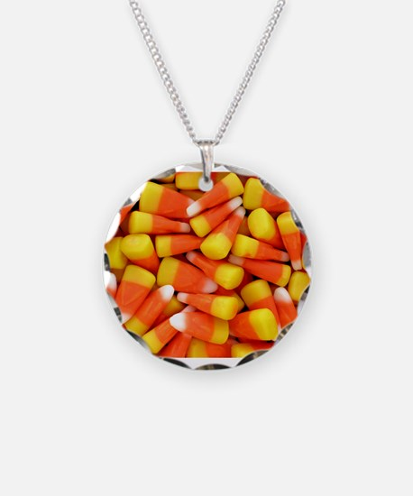 Candy Corn Halloween Shirt Necklace