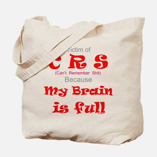 My Brain is Full-red Tote Bag
