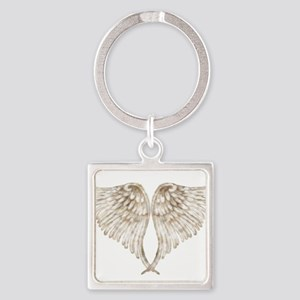 Golden Angel Square Keychain