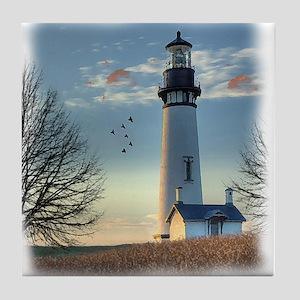 Sunset_Lighthouse Tile Coaster