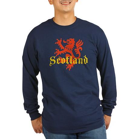 Scotland Lion Long Sleeve Dark T-Shirt