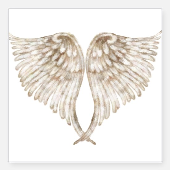 "Golden Angel Square Car Magnet 3"" x 3"""