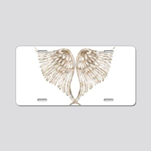 Golden Angel Aluminum License Plate