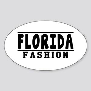 Florida Fashion Designs Sticker (Oval)