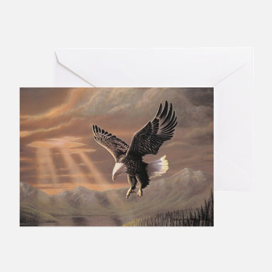 """Eagle """"In His Glory"""" Fine Art Greeting Cards (Pack"""