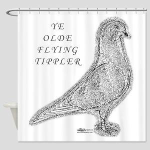 Ye Olde Flying Tippler Pigeon Shower Curtain