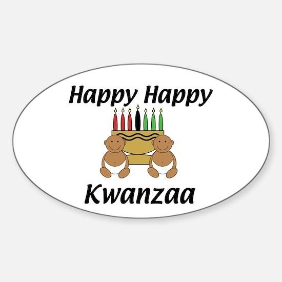 Happy Kwanzaa Oval Decal
