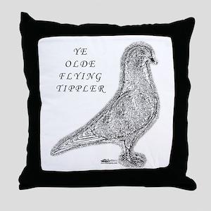 Ye Olde Flying Tippler Pigeon Throw Pillow