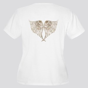 Golden Angel Wings Women's Plus Size V-Neck T-Shir