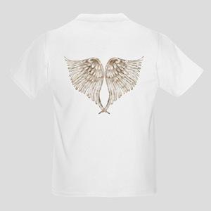 Golden Angel Wings Kids Light T-Shirt