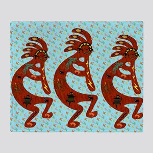 Lizard Kokopelli Throw Blanket