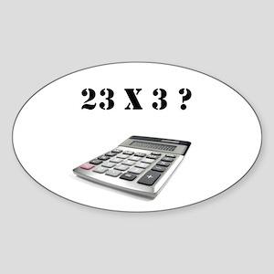 23 x 3? Sticker