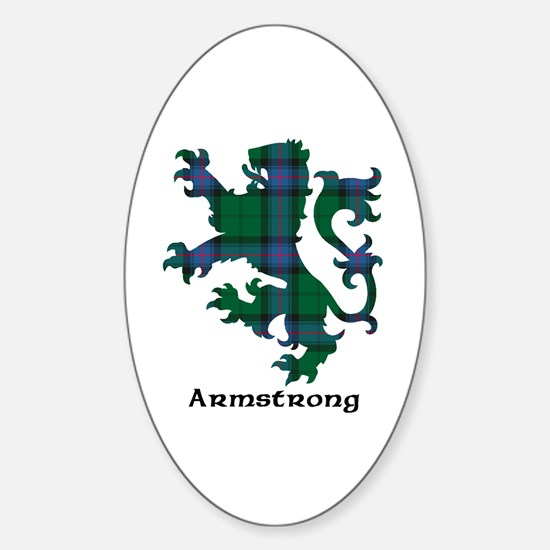 Lion - Armstrong Sticker (Oval)