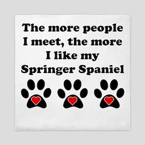 My Springer Spaniel Queen Duvet