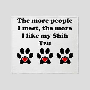 My Shih Tzu Throw Blanket