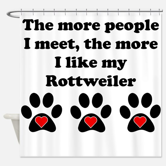 My Rottweiler Shower Curtain