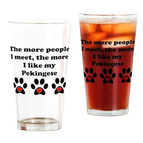 My Pekingese Drinking Glass