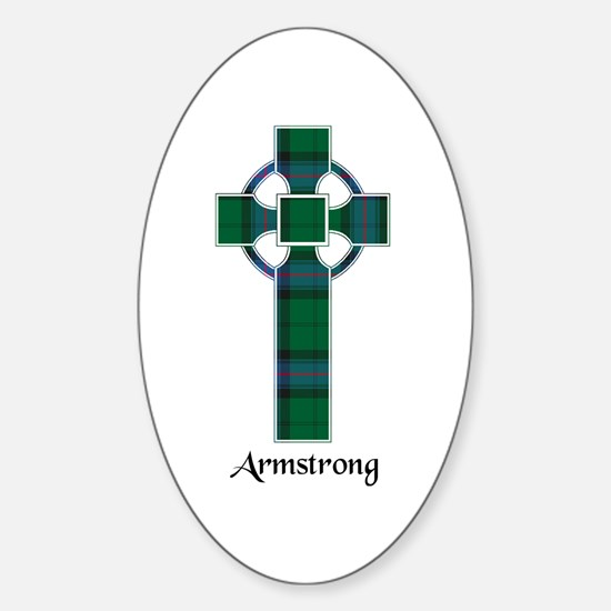 Cross - Armstrong Sticker (Oval)