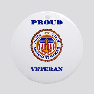 Proud Merchant Marine Veteran Ornament (Round)