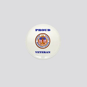 Proud Merchant Marine Veteran Mini Button