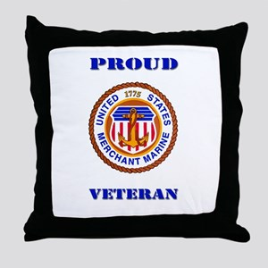 Proud Merchant Marine Veteran Throw Pillow