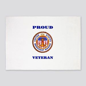 Proud Merchant Marine Veteran 5'x7'Area Rug