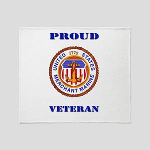 Proud Merchant Marine Veteran Throw Blanket