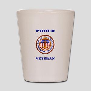 Proud Merchant Marine Veteran Shot Glass
