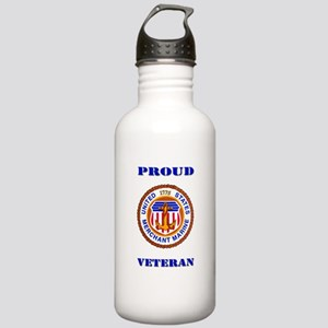 Proud Merchant Marine Veteran Water Bottle