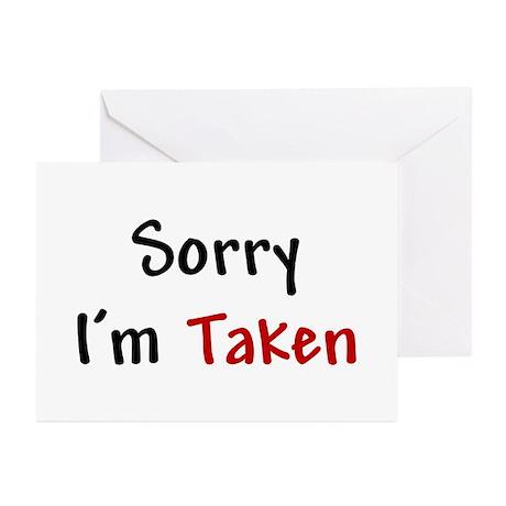 sorry i m taken greeting cards pk of 10 by bestofdc