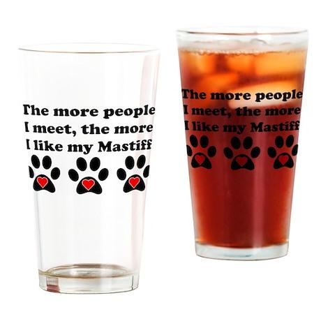 My Mastiff Drinking Glass