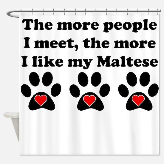 My Maltese Shower Curtain