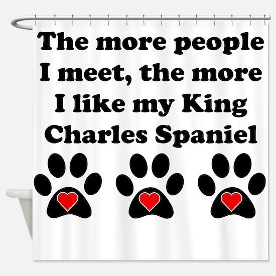 My King Charles Spaniel Shower Curtain