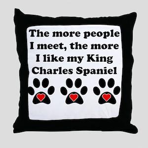 My King Charles Spaniel Throw Pillow