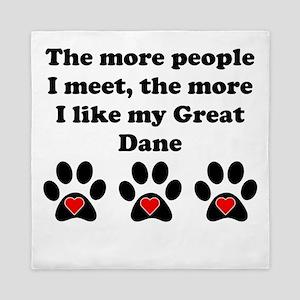 My Great Dane Queen Duvet