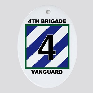 4th Brigade Patch Oval Ornament