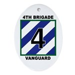 4th Brigade Patch Oval Ornament