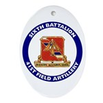 41st Field Artillery Oval Ornament
