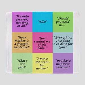 Labyrinth Quotes Throw Blanket