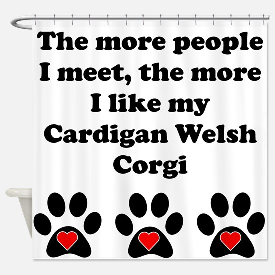 My Cardigan Welsh Corgi Shower Curtain
