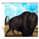 Prairie Bison Shower Curtain
