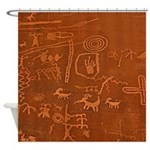 Mesa Verde Petroglyphs Shower Curtain