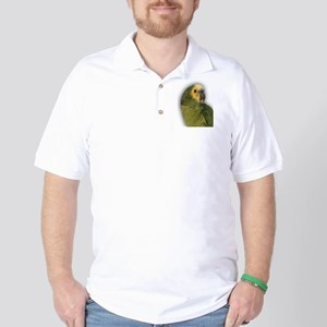 Amazon Blue Front Parrot Golf Shirt