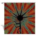 Spiral Kokopelli Shower Curtain