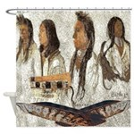 Indian Portraits Shower Curtain